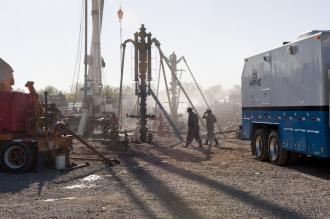 Fracking under way in Texas