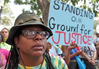 Protesters demand justice for Trayvon Martin in Washington, D.C. (Elvert Barnes)