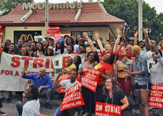 Fast food workers in St. Louis wage the Fight for 15 (Cathy Sherwin)