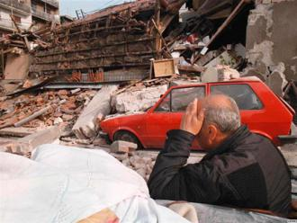 "Aftermath of ""humanitarian"" air strikes during the NATO war on Yugoslavia"