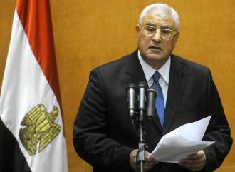 Egypt's interim President Adly Mansour