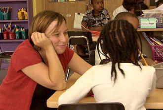 A teacher featured in the documentary American Teacher