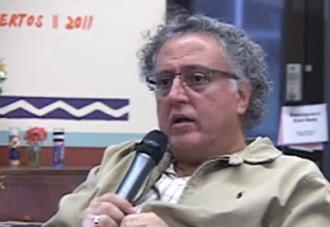 As'sad AbuKhalil speaking during a teach-in on the Arab Spring at UC Berkeley