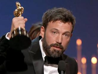 Ben Affleck accepts the Best Picture award for Argo