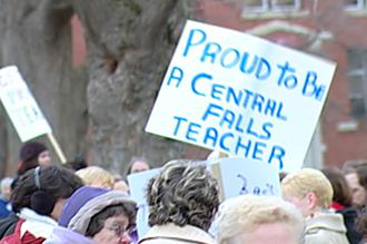 Nearly 100 teachers and support staff were fired from Central Falls High School (Paul Hubbard | SW)