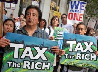 Protesters stand up to the banks, the corporations and the wealthy in California