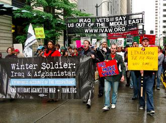 Iraq Veterans Against the War have held a series of Winter Soldier hearings across the country (Lisa Wright | SW)