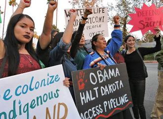 Native activists call on President Obama to stop the Dakota Access Pipeline (Aime Lopez | SoCal 350 Climate Action)