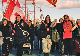 Elsipogtog activists march against fracking
