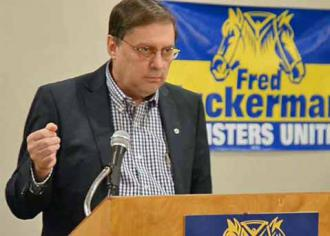 The challenger in the Teamsters election for general president Fred Zuckerman (Teamsters United)