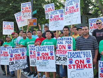 Workers On The Picket Line At Golan Moving And Storage Carole Ramsden Sw