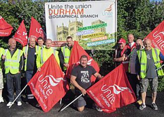 Oil refinery workers in Fawley, England strike in defense of the rights of migrant labor