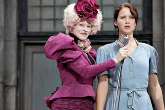 Elizabeth Banks and Jennifer Lawrence in The Hunger Games