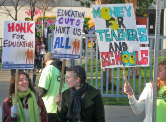 Teachers in Oakland Calif. take part in the May 4, 2010, day of action (Todd Chretien | SW)