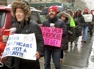 Picketing for legal services in New York City (Brian Sullivan)