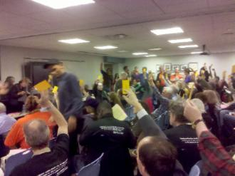 Adjunct faculty mobilizes for a Delegates Assembly vote on contract demands  (Doug Singsen | SW)