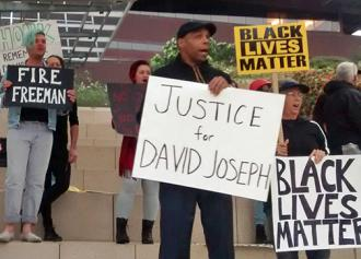 Demonstrators in Austin, Texas, demand justice for David Joseph (Gus Bova | SW)