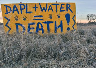 At the Standing Rock protest camps (Leonard Klein | SW)