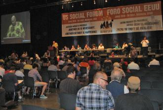 A panel discussion at the U.S. Social Forum in Detroit (Sarah Levy   SW)