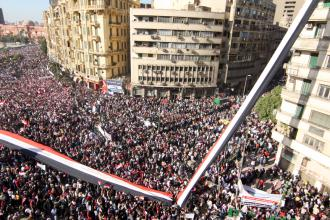 Cairo's Tahrir Square filled with the protesters who ended Mubarak's 30-year reign (Mai Shaheen)