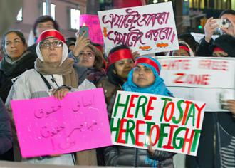 Queens residents gathered in Jackson Heights to declare a hate-free zone (Katie Honan | DNAInfo)
