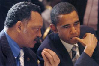 Rev. Jesse Jackson and Barack Obama