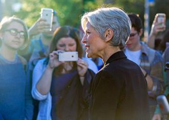 Green Party presidential candidate Jill Stein escorted off the Hofstra University campus before the first debate