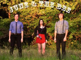 Members of June & the Bee. From left: Emma Ayers, Zoe Langsdale and Eli Ayers (Emma Ayers)