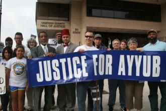 Rallying for justice for Ayyub Abdul-Alim (David Woodsome | SW)