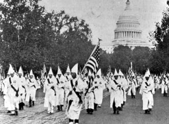 Thousands of members of the Ku Klux Klan marched in Washington, D.C. in 1925