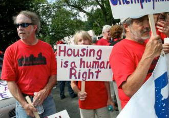 Rochester activsts march against eviction and foreclosure