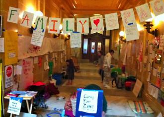"The ""family space"" for kids set up inside the Wisconsin capitol building (Julie Fain 