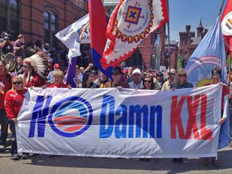 Hundreds of people joined the Cowboy Indian Alliance in the streets of Washington (Brian Ward | SW)
