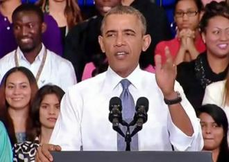 President Obama speaks at a press event celebrating the Affordable Care Act (White House)
