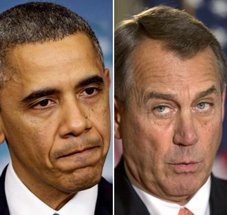 President Obama and House Speaker John Boehner