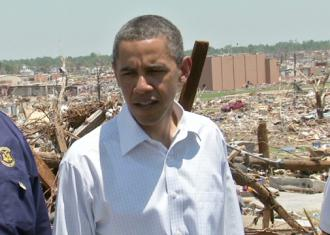Obama tours tornado-ravaged Joplin, Mo., in May