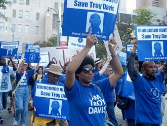 As many as 1,000 people gathered in early September for a march calling for justice for Troy