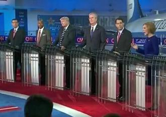 The Republican nomination circus in front of the cameras