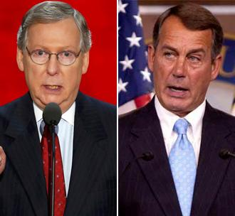 Republicans Mitch McConnell and John Boehner