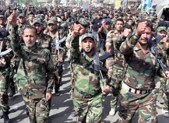 A Shia militia in Iraq mobilized for the war on ISIS
