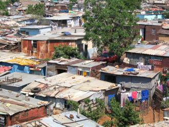 Part of a shanty town in Soweto, South Africa