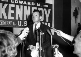 Ted Kennedy during his first campaign for Senate in 1962