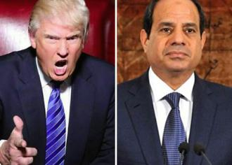 Donald Trump and Abdul-Fattah el-Sisi