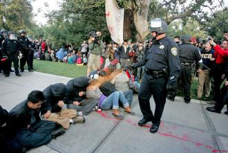 The sadistic police attack on activists at UC Davis spurred protests on campuses across California