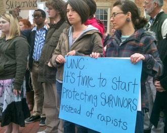 Students gather to protest UNC's handling of rape (Ben Lassiter | SW)