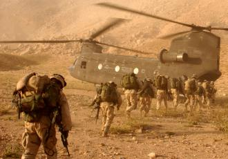 U.S. soldiers deployed on a mission in Afghanistan returning to their Kandahar airfield (Staff Sgt. Kyle Davis)