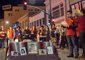 Oakland activists hold a vigil for trans women of color murdered already in 2015