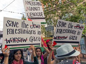 San Francisco marchers show their solidarity with Palestinians in Gaza (Jeremy Tully | SW)