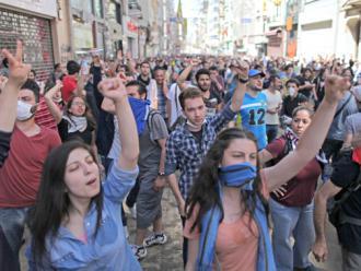 A massive demonstration retook Gezi Park in Istanbul's Taksim Square (Cem/DepoPhotos | ABACA/Newscom)