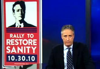 Jon Stewart talks about the Rally to Restore Sanity and/or Fear